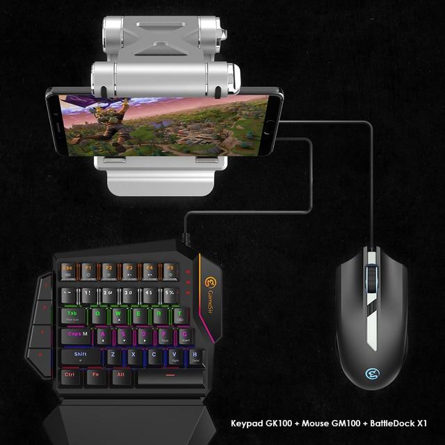 Gamesir GK100 Satu Tangan Hijau Axis Keyboard Mekanik Biru Switch PC Gaming Keypad untuk FPS Games, pilihan Mouse X1