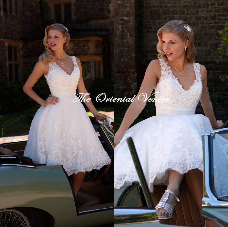 Online Get Cheap White Tea Length Dress -Aliexpress.com   Alibaba ...