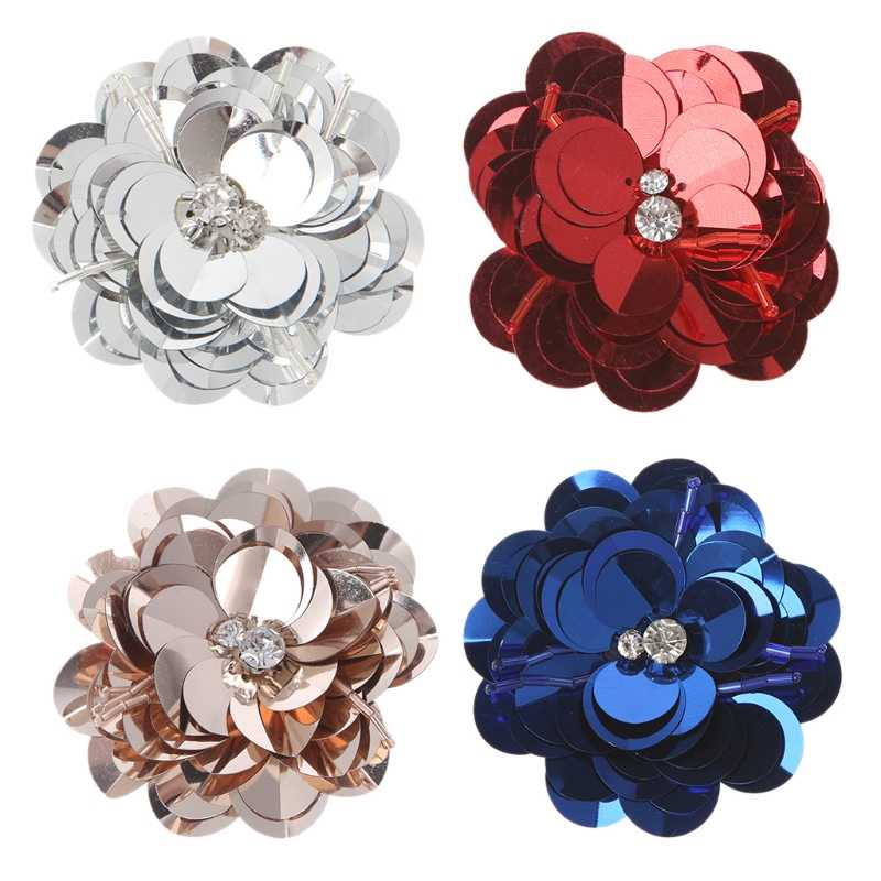 EYKOSI 2Pcs Wedding Bridal Rhinestone Flower Shoe Clips Buckle Removable  Sandals Decor e8a73e4bb1e9