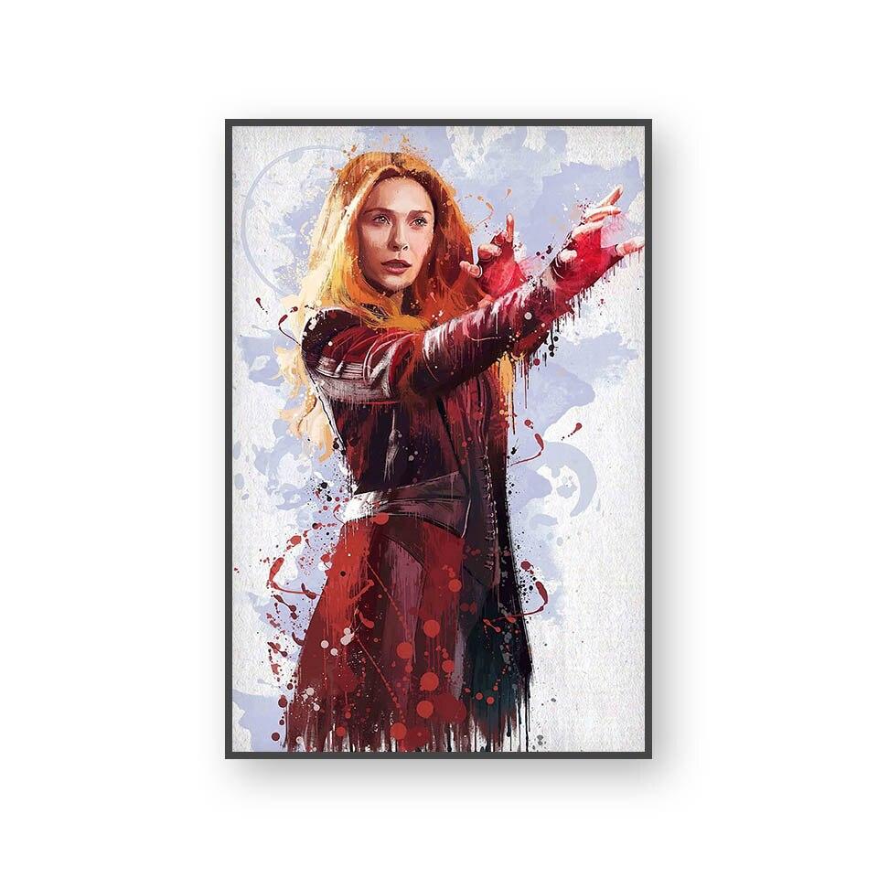 Настенный художественный холст с печатью постера, настенные картины для домашнего декора, Марвел, Мстители, фильм супергерой, Дэдпул, Железный Человек-паук, Локи - Цвет: L394T