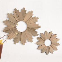 New Home Decor Madeira Positivo Conforto Tapeçarias de Parede Geométrica Criativo Decalque Da Parede Estilo Nórdico Sala Decoração da parede