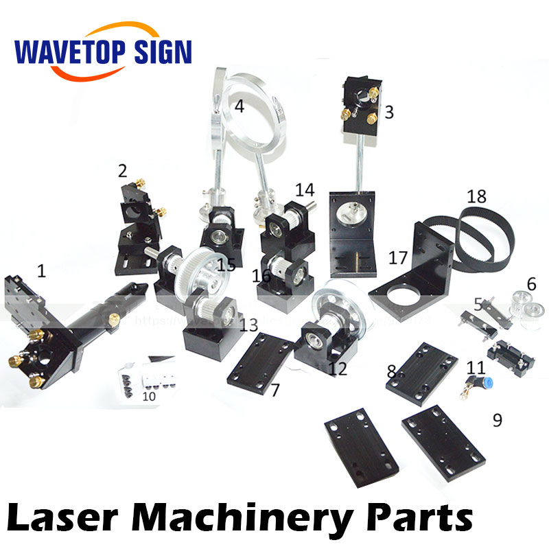 CO2 Laser Head Set CO2 Laser Metal Parts co2 laser path use for laser cutting and engraving machine economic al case of 1064nm fiber laser machine parts for laser machine beam combiner mirror mount light path system