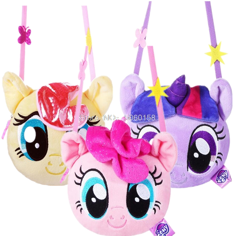New Pony Bao Li Children's Purse 2019 My Little Pony Plush Backpack Cartoon Cute Doll Cross Body Bag Girl Toys