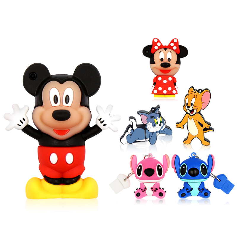 Cartoon Usb Flash Drive 64 GB Usb 2.0 Pen Drive 32GB Tom Animal Pendrive 16GB Flash Memory Drive 256gb 128gb 8gb Usb Disk 512gb