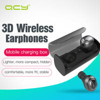 QCY Q29 English Business Bluetooth Earphone Wireless Stereo Headphone And Charge Automatically Power Bank