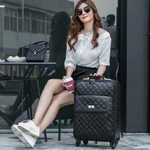 Euro fashion black universal wheels trolley luggage female password trolley box16 20 24 luggage high quality