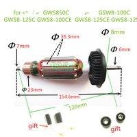 AC220 240V Armature Rotor Motor for BOSCH GWS850C GSW8 100C GWS8 125C GWS8 100CE GWS8 125 GWS8 125CE GWS850CE GWS780C|motor for|armature rotor|for bosch -