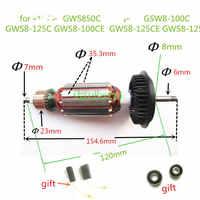 AC220-240V armadura Motor de Rotor para BOSCH GWS850C GSW8-100C GWS8-125C GWS8-100CE GWS8-125 GWS8-125CE GWS850CE GWS780C