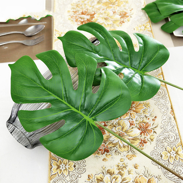 plastic leaves artificial plants turtle bamboo simulation flower