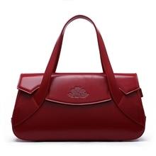 Женская кожаная сумка модная подушка в стиле ретро сумка дизайнерская Бостонская сумка женская сумка на плечо гарантированное качество 7941