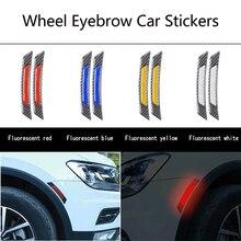 цена на Wheel Eyebrow car stickers car reflective stickers For BMW Audi Toyota Kia Mercedes Lada VW Mazda Ford Mustang Polo Passat