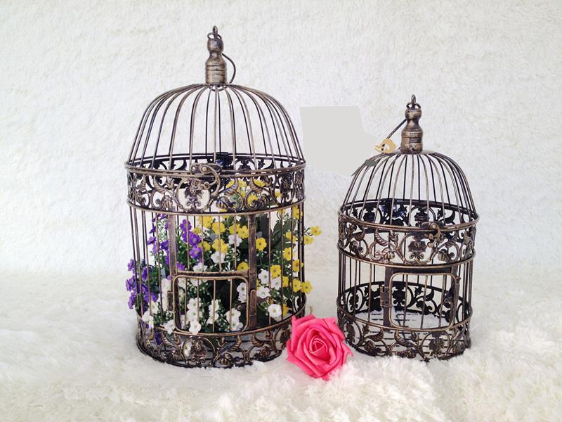 hecho a mano de la moda gran decoracin antigua jaulas de pjaros de bronce nuevo