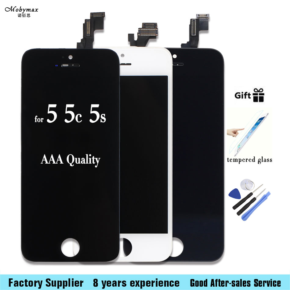 LCD For Iphone 5 For iphone 5c For iphone 5s Screen Display Part Glass Touch Panel Digitizer Assembly Complete Tools Screen