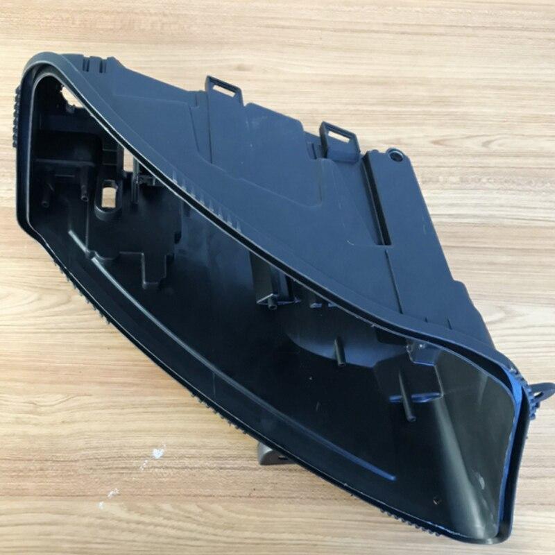 สำหรับ audi A6 C6 2005-2008Headlight ด้านหลังไฟหน้าฐานพลาสติกสีดำโคมไฟเลนส์ด้านหลังฝาครอบด้านหลังโคมไฟ