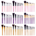 7 Unids mutil-color de Pinceles de Maquillaje Profesional Set Powder Foundation Blush Delineador de Ojos Sombra de Ojos Maquillaje Herramientas Kits (opp bolsa de embalaje)