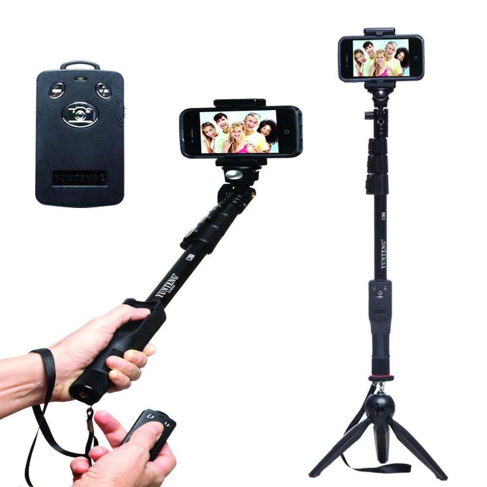 YUNTENG Monopod Öz Bluetooth Uzaktan Kablosuz Tripod Tutucu Kamera - Kamera ve Fotoğraf - Fotoğraf 4