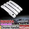 For Nissan NAVARA D40 2005 2015 Chrome Handle Cover Trim For Suzuki Equator Frontier Brute 2007