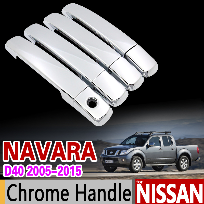 for Nissan NAVARA D40 2005 - 2015 Chrome Handle Cover Trim for Suzuki Equator Frontier Brute 2007 2010 Accessories Car Styling