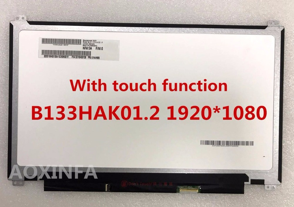Free shipping laptop lcd screen replacement B133HAK01.1 B133HAK01.2 13.3  IPS touch panel 1920*1080 original a1706 a1708 lcd back cover for macbook pro13 2016 a1706 a1708 laptop replacement