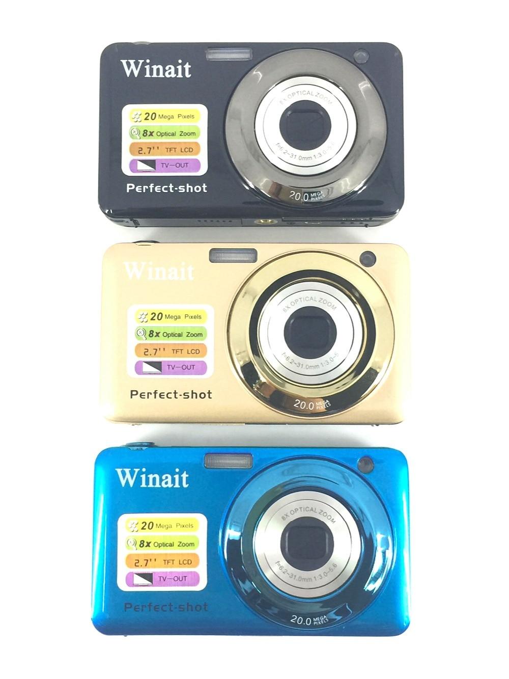 ФОТО 5Pcs/Lot, DHL Free Shiping New 20MP 8X Optical Zoom Cheap Digital Camera Quality Digital Camera 2.7