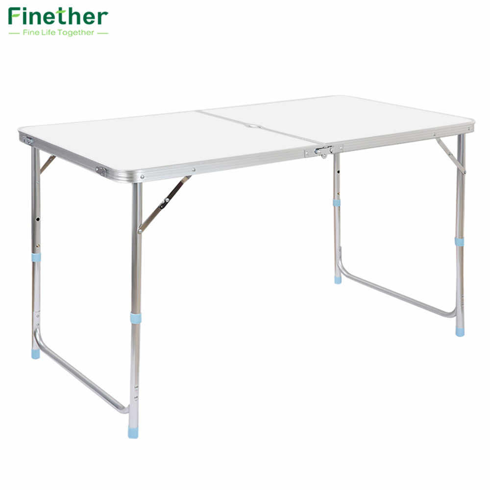 New Aluminum Portable Adjustable Folding Table Camping Outdoor Picnic Party BBQ