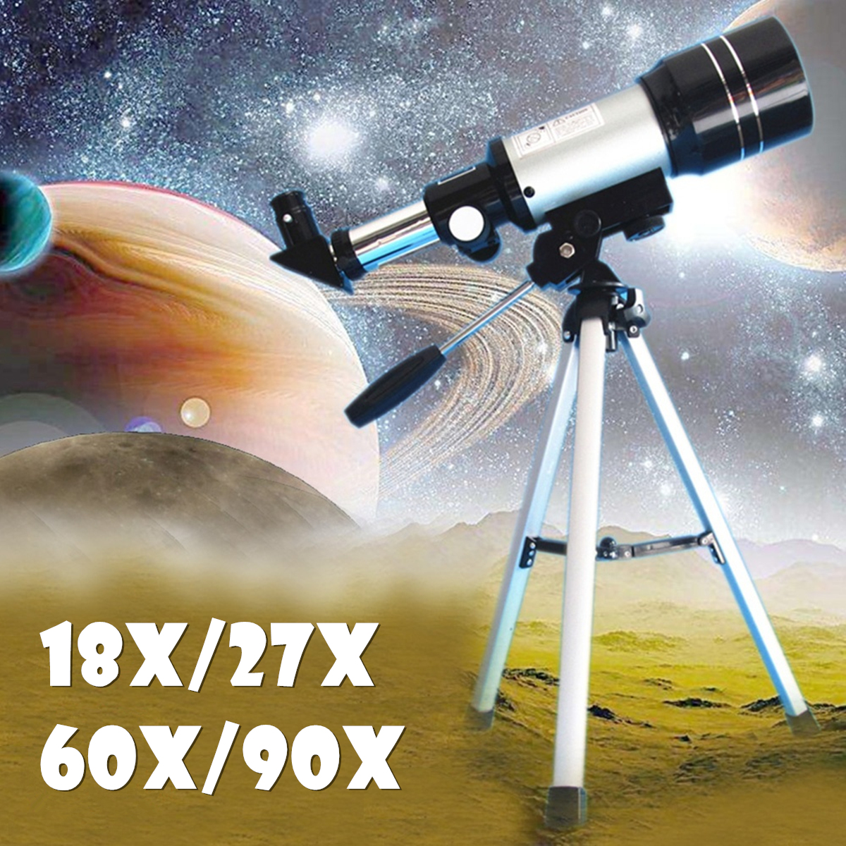 SGODDE F360/50mm Refractive Astronomical Telescope Monocular Space Outdoor Travel Spotting Telescope Photography 90x zonebike zoom hd 90x outdoor space astronomical telescope monocular with tripod 360 50mm telescopic spotting scope for children