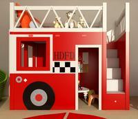 Красивой твердой древесины мальчики, девочки, детские кровати, принцесса комплект мебели Творческий детская кровать