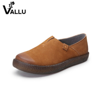 New Arrival Flat Shoes Woman 2017 Natural Leather Ladies Flats Handmade Vintage Round Toe Casual Women' s Shoes