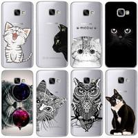 Coque For Samsung Galaxy S4 S5 S6 S7 Edge S8 Plus A3 A5 2016 2015 2017 prime J1 J2 J3 J5 J7 Case TPU Silicon Cover Cat Fundas