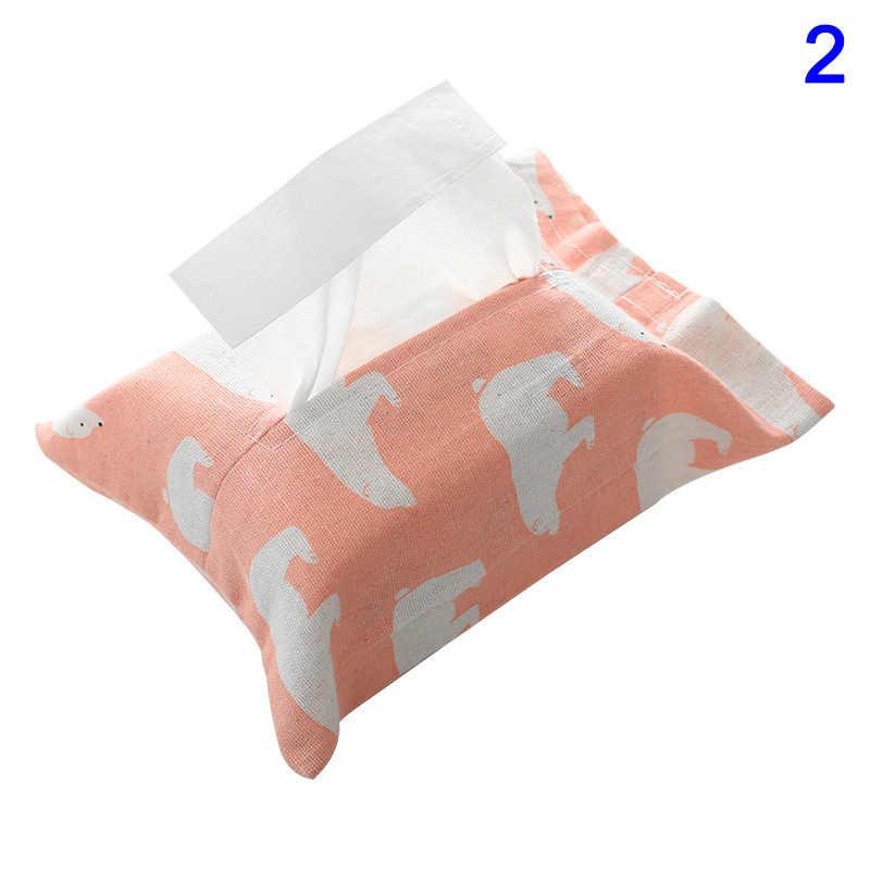 Новинка 1 шт. льняная коробка для салфеток Фламинго Медведь узор домашняя бумажная Обложка сумка салфетница бумажная салфетка коробки SF66