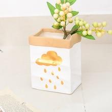 pots garden Kraft paper container ceramic planter pot vaso bonsai plantas succulent or flower pots suitable for home or office