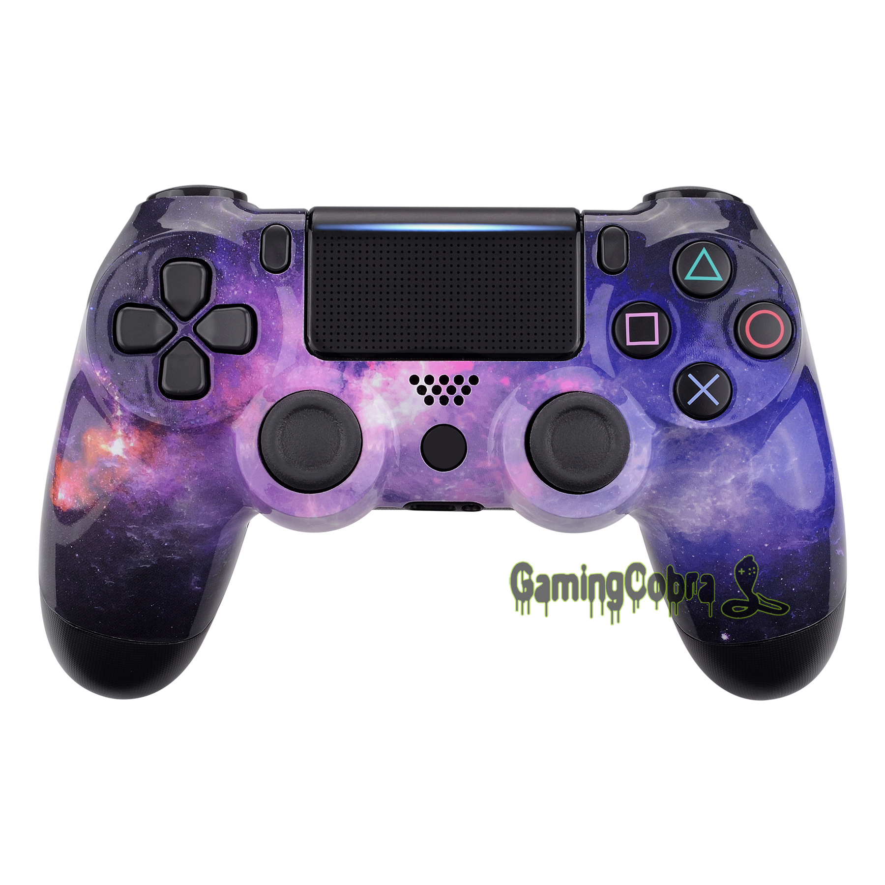 Nubula Galaxy Design Replacement Front <font><b>Shell</b></font> Faceplate Cover for PS4 Pro Slim Controller <font><b>JDM</b></font>-040 <font><b>JDM</b></font>-050 <font><b>JDM</b></font>-<font><b>055</b></font> - SP4FT27 image