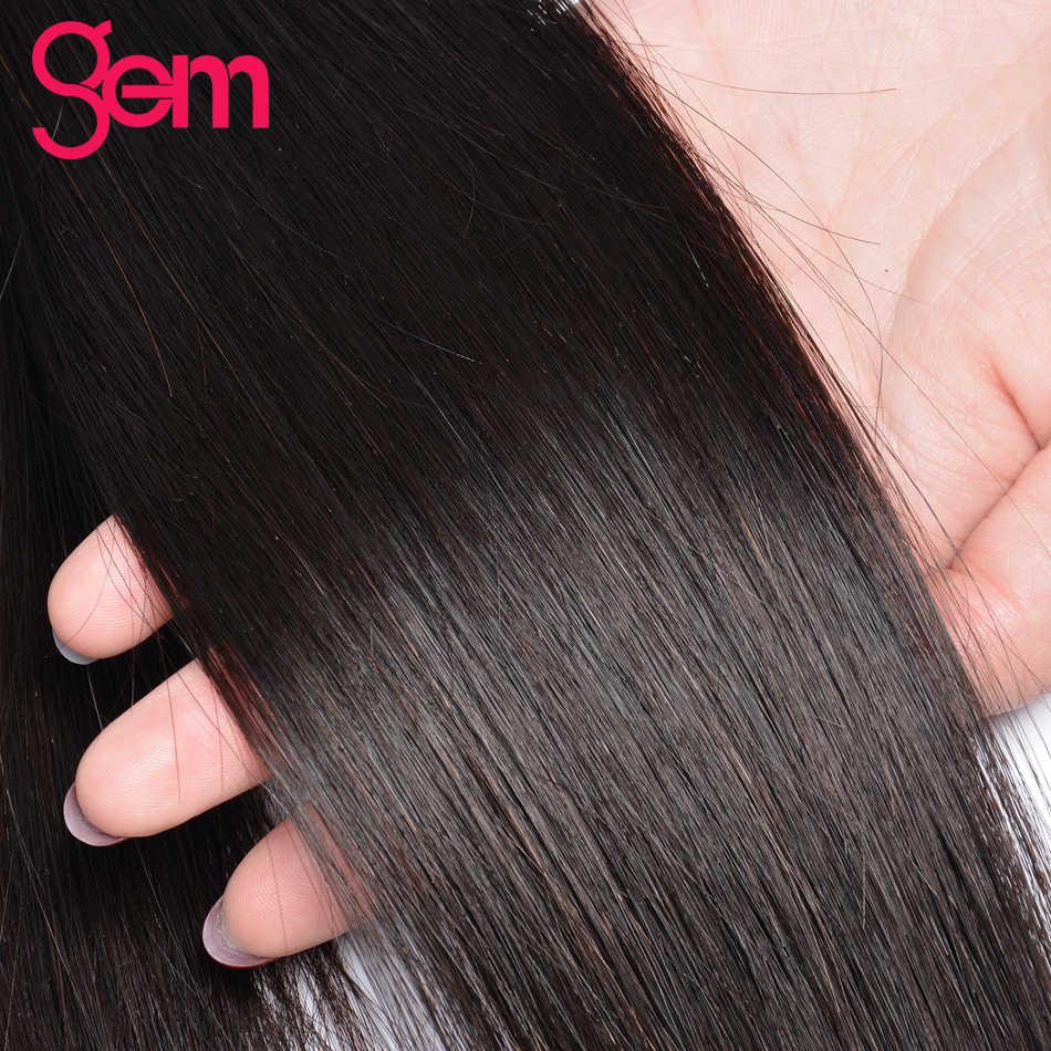 Перуанские прямые волосы пучки 100% человеческих волос Плетение Пучки Волос 1/3/4 шт. натуральный с черными камнями Красота не Волосы remy расширения # 1b
