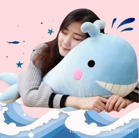 45cm Soft Whale Doll with Blankets Cute Whale Pillow Plush Toys Christmas gift