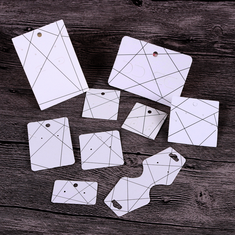 100pcs/lot White Paper Earrings Card Fashion Hairpin Cards Nice Jewelry Organizer Bracelet Necklace Display Packaging Cards Tags