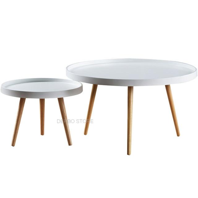 Modern Design Fashion Solid Wood Small Big High Low Side Table, Living Room  Sofa Corner Tea Coffee Table, Loft Tray Side Table