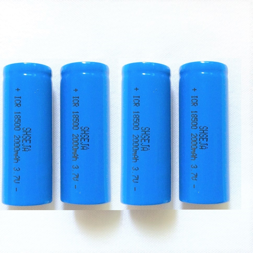 4PCS ICR 18500 Battery 3.7V 2000mAh li-ion Rechargeable Battery image