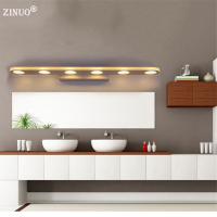 ZINUO 12W 18W Bathroom LED Mirror Light Waterproof 38CM 58CM AC220V 110V SMD5630 Cosmetic Acrylic Wall lamp Bathroom Lighting