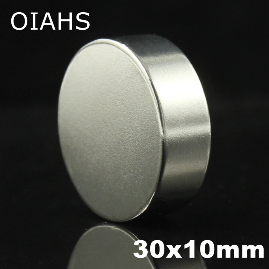 1 pcs 30x10mm Super Puissant Forte En Vrac Small Round NdFeB Néodyme Disc Magnets Dia 30mm x 10mm N35 Rare Earth NdFeB Aimant