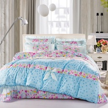2015 Summer style lecho 4 unids ropa de cama ropa de cama hoja de Funda Nórdica juegos de cama edredón Colcha Edredon funda de almohada