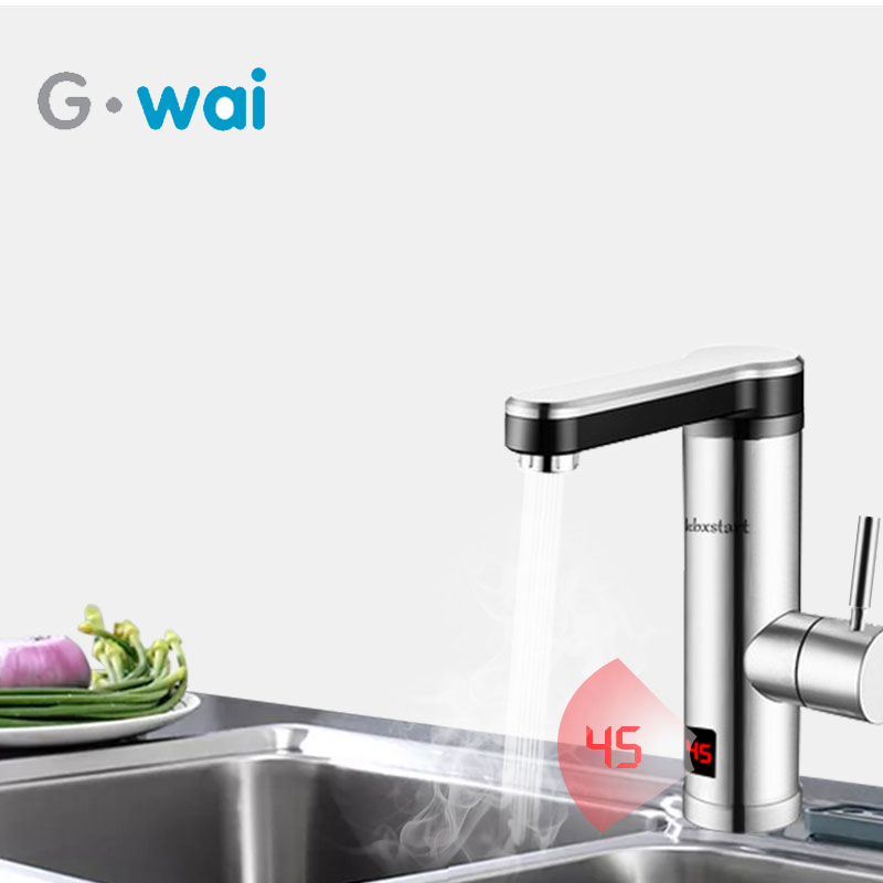 220V Electric Instant Tankless Water Heater for Kitchen Bathroom Fast Heating Tap Water Faucet with LED220V Electric Instant Tankless Water Heater for Kitchen Bathroom Fast Heating Tap Water Faucet with LED