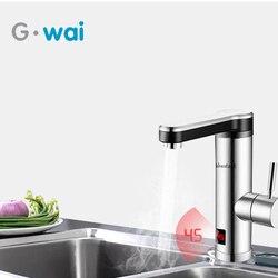 220V Elettrico Tankless Istante Riscaldatore di Acqua per la Cucina Bagno Rubinetto Riscaldamento Veloce Rubinetto di Acqua con LED