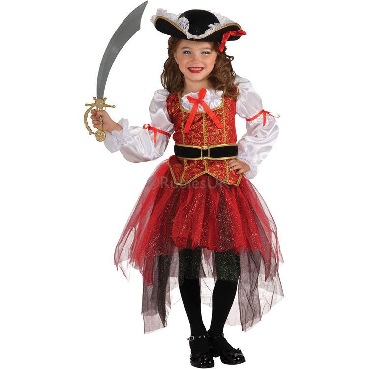 nuevo llega el beb de la muchacha trajes de pirata de halloween navidad party girls cosplay