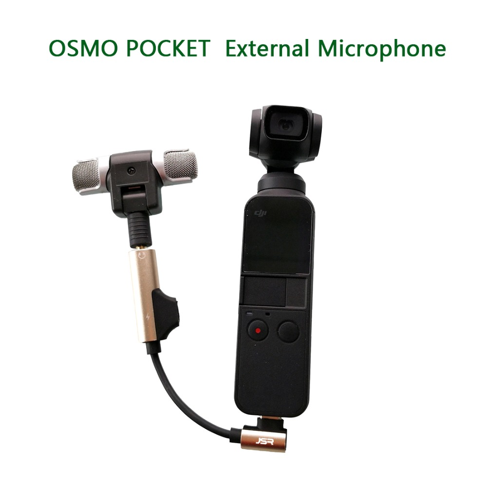 OSMO bolsillo Stereo micrófono externo Digital de micrófono de mano para DJI OSMO bolsillo cardán de mano Accesorios