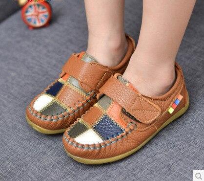Дети обувь мальчики обувь кожа дети обувь свободного покроя один обувь