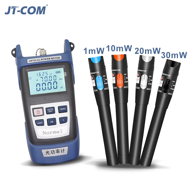 Transportable Fiber Optical Energy Meter Laser Supply 1Mw 10Mw 30Mw Visible Fault Locator Crimson Gentle Tester Pen Fc/sc Connector Vfl Opm