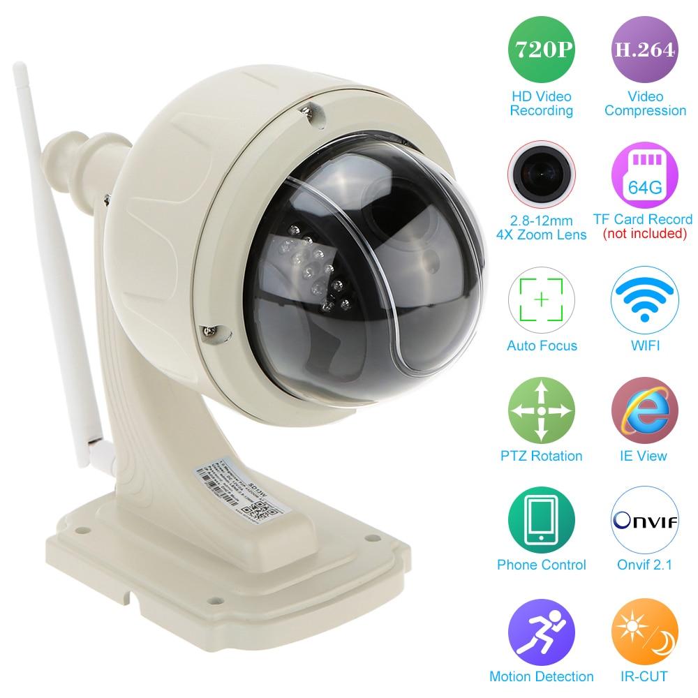 bilder für KKmoon HD 720 P Drahtlose Ip-kamera WiFi Sicherheit Cctv-kamera 2,8-12mm autofokus PTZ Wasserdichte Überwachungskamera