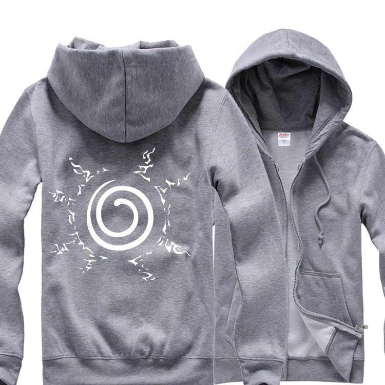 Осенне-зимняя толстовка с капюшоном для мужчин черная Косплей хлопчатобумажная трикотажная рубашка флисовая подкладка мужские толстовки куртки