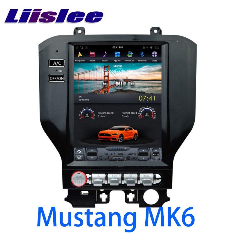 LiisLee Car Multimedia GPS HiFi Audio Radio Stereo For Ford Mustang MK6 S550 2015~2018 Original Style Navigation NAVI цена