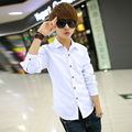 T china cheap wholesale 2016 male fashion casual long-sleeve shirt summer men clothing autumn shirt trend shirt clothes male